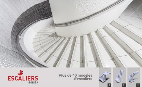Plus de 40 modèles d'escaliers.