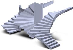 Les escaliers béton et gaines soriba