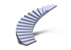 Escalier en béton sur mesure.
