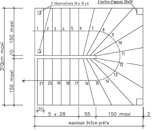 escalier balanc en b ton int rieur ou ext rieur soriba. Black Bedroom Furniture Sets. Home Design Ideas