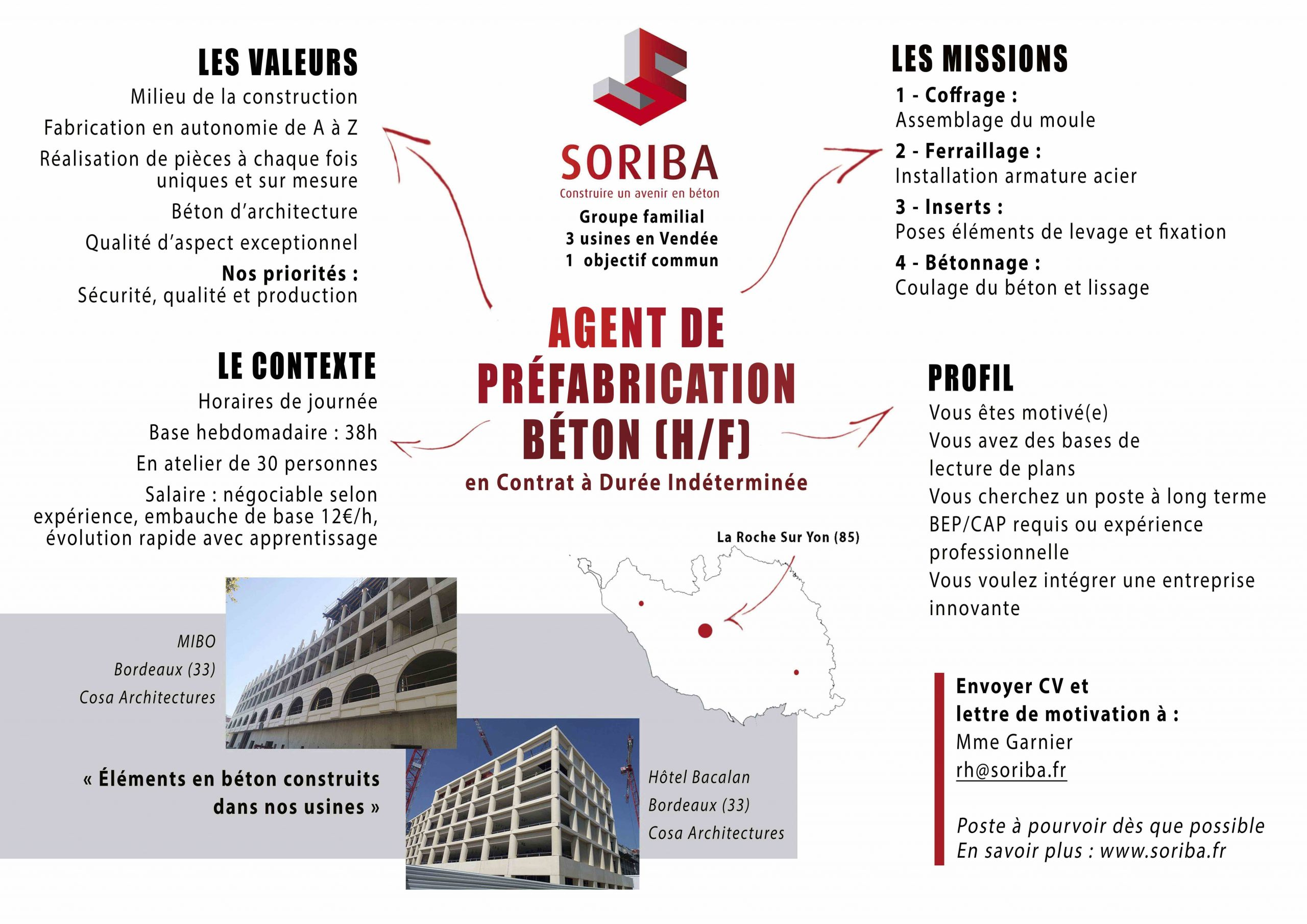 Offre agent de préfabrication La Roche