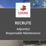 Adjoint(e) Responsable Maintenance