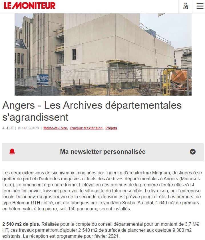 Le Moniteur article du 14.02.2020