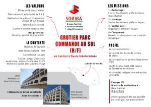 Offre Soriba - Grutier Parc Commande au Sol